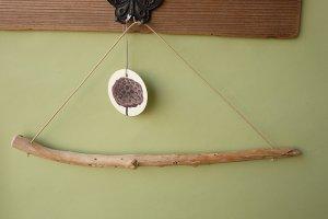 画像1: タオルハンガー(丸折・クリーム)