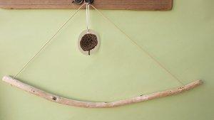画像1: バスタオルハンガー(丸折・クリーム)