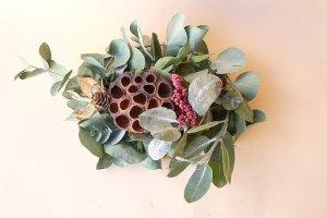 画像1: Dry plants for decor ユーカリクリスマスアレンジ用オブジェ(置きタイプ)