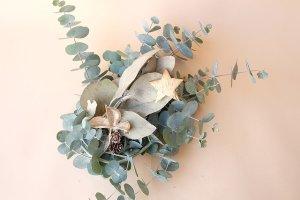 画像2: Dry plants for decor ユーカリクリスマスアレンジ用オブジェ(置きタイプ)