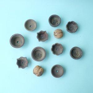 画像1: ミニ素焼き鉢1.5寸10個セット(USED)